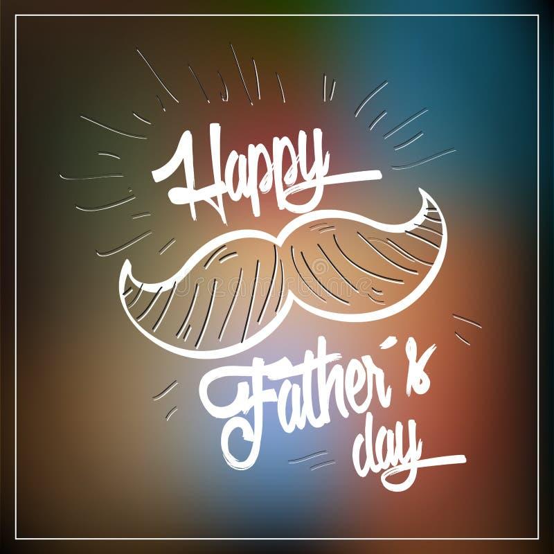 szczęśliwy dzień ojciec ilustracja wektor