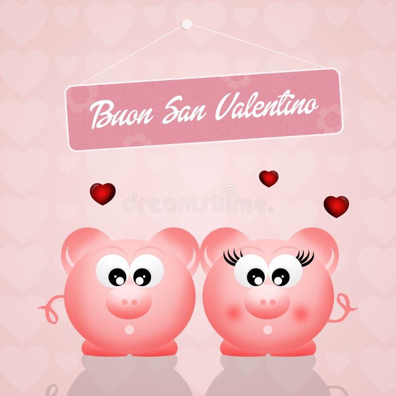 szczęśliwy dzień valentine ilustracji