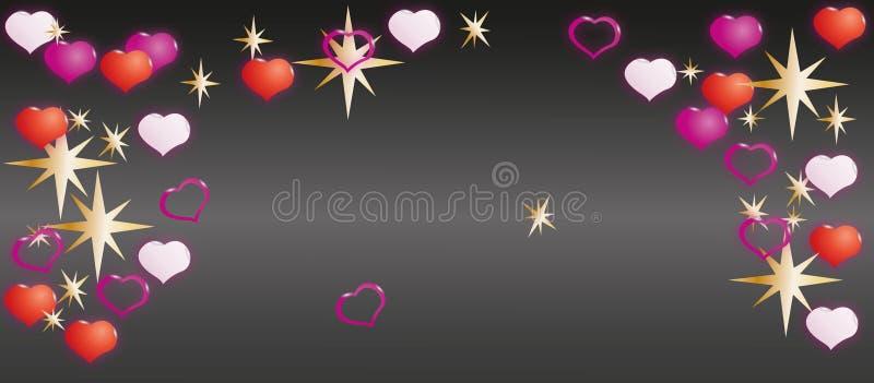 szczęśliwy dzień valentine s Nakrętka dla pocztówek lub miejsca ilustracja wektor
