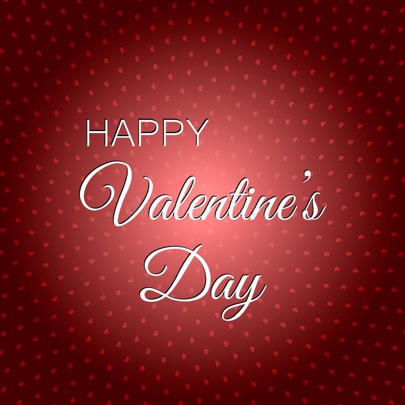 szczęśliwy dzień valentine s 14th 2018 Luty ilustracja wektor