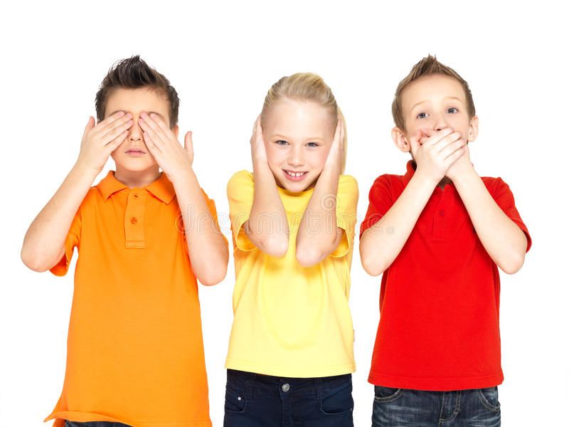 Szczęśliwy dzieci robić zdjęcia royalty free