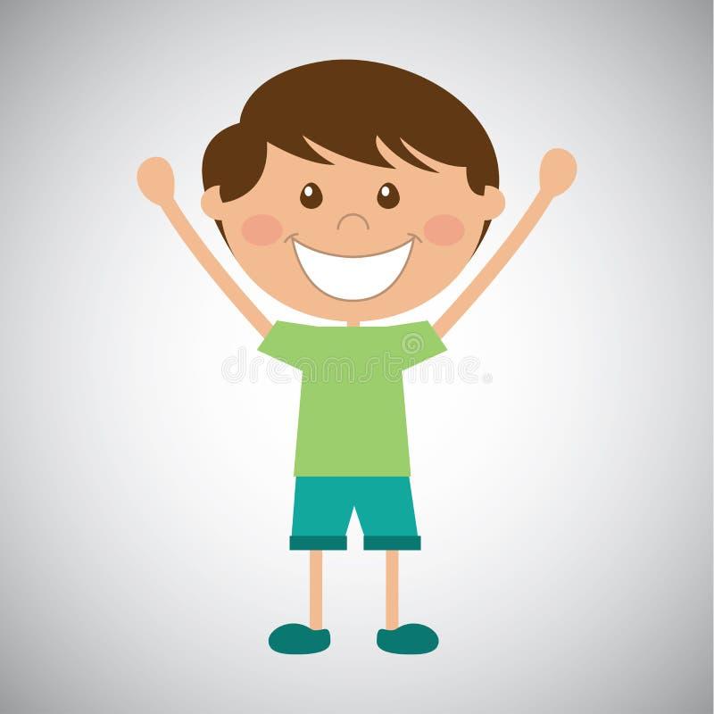 szczęśliwy dzieciak royalty ilustracja