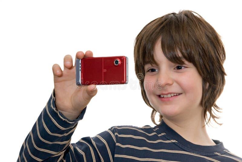 szczęśliwy dzieciaka telefonu fotografii zabranie zdjęcia royalty free