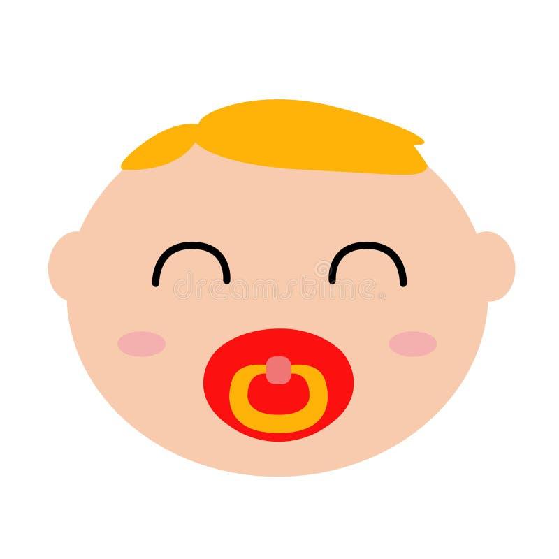 Szczęśliwy dziecka avatar ilustracji