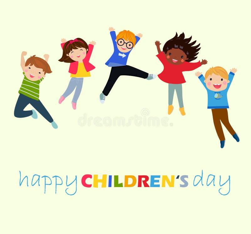Szczęśliwy dziecka ` s dzień royalty ilustracja