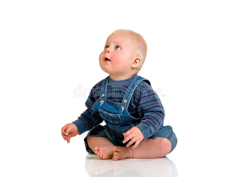szczęśliwy dziecka studio zdjęcie stock