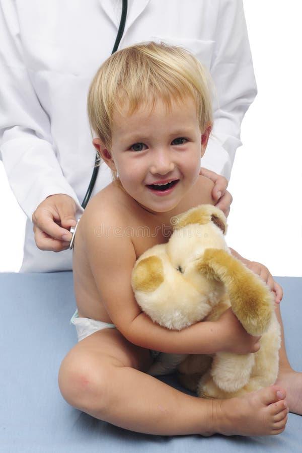 Szczęśliwy Dziecko Pediatra Obrazy Stock