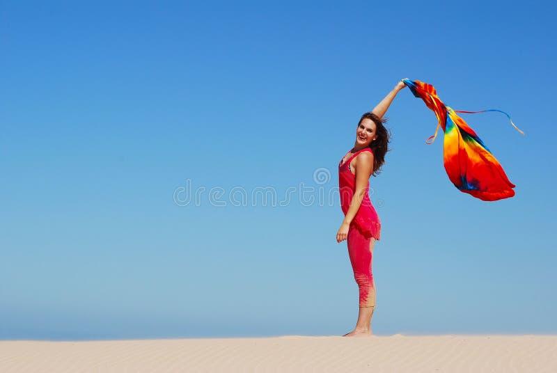 szczęśliwy dziewczyna wakacje obrazy stock