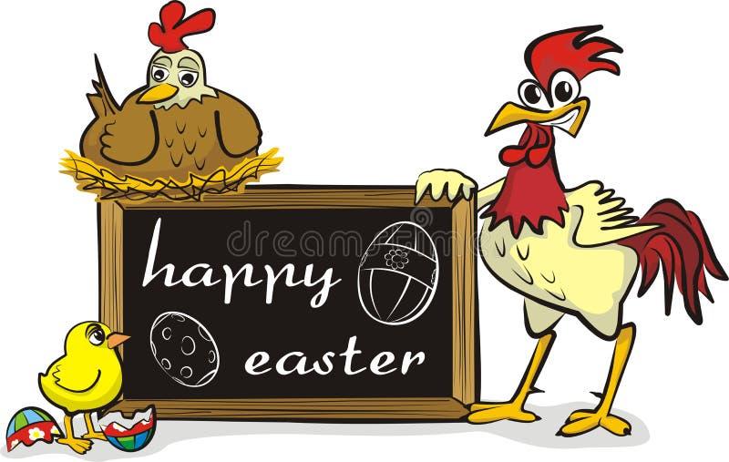 Szczęśliwy Easter - kurczak rodzina ilustracji