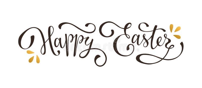 szczęśliwy Easter tekst royalty ilustracja