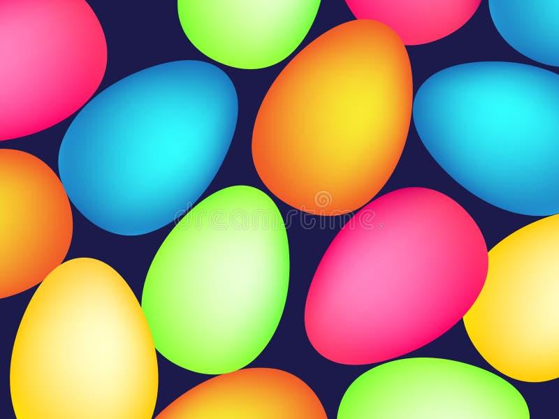Szczęśliwy Easter wzór z jajkami wektor zdjęcia royalty free