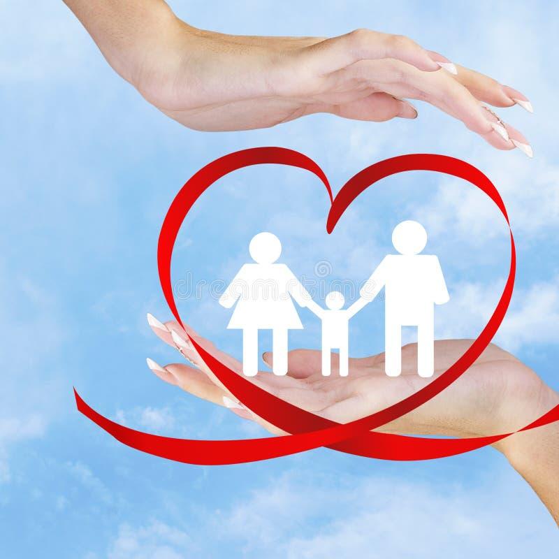 Szczęśliwy Family.Love obraz royalty free