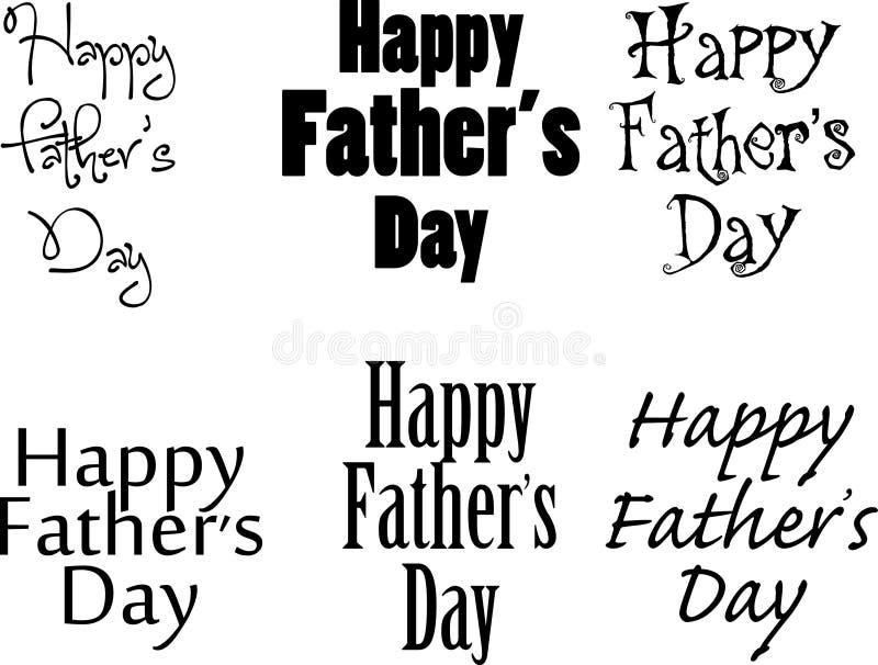 Szczęśliwy Father&-x27; s dnia tekst ilustracja wektor
