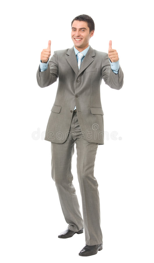szczęśliwy gestu biznesmena zdjęcia stock