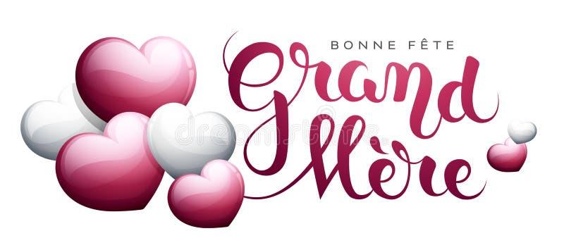 Szczęśliwy Grandmother's dzień w Francuskim: Bonne fête uroczysty ilustracji