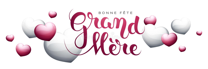 Szczęśliwy Grandmother's dzień w Francuskim: Bonne fête uroczysty ilustracja wektor