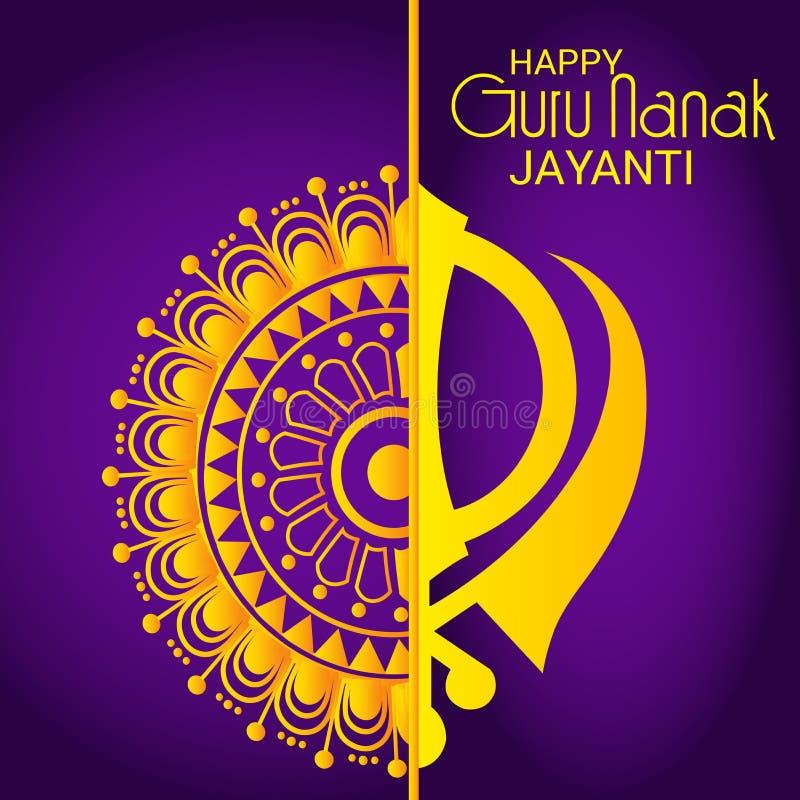 Szczęśliwy Guru Nanak Jayanti ilustracja wektor