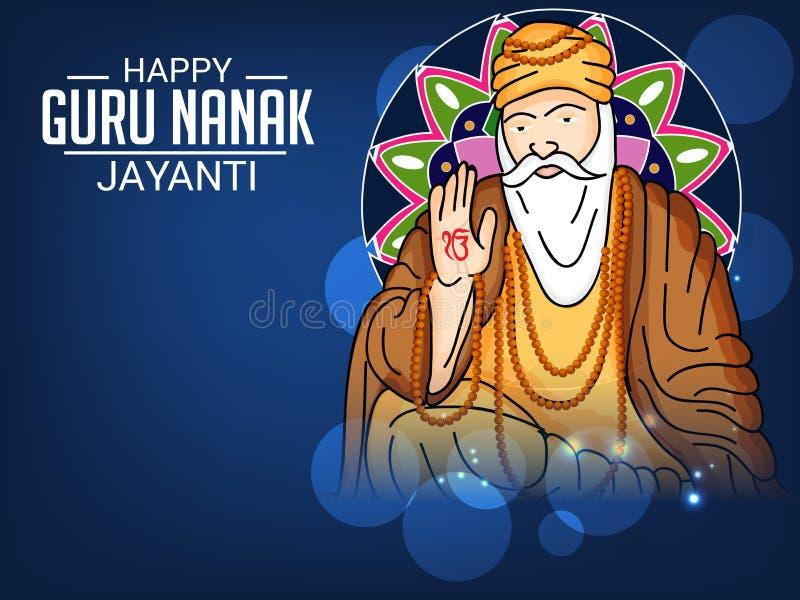 Szczęśliwy Guru Nanak Jayanti royalty ilustracja