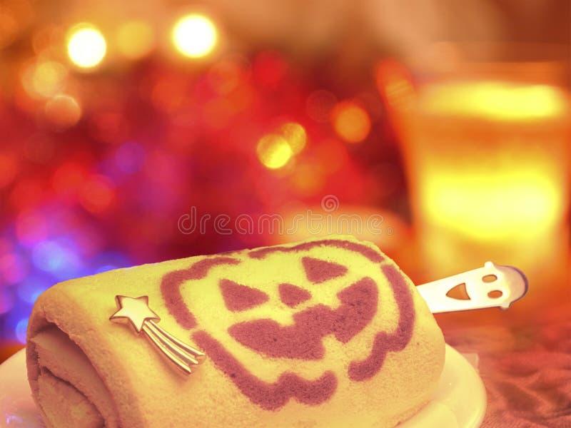 Szczęśliwy Halloween! Świętowania przyjęcie z bania napojem i tortem! T zdjęcia royalty free