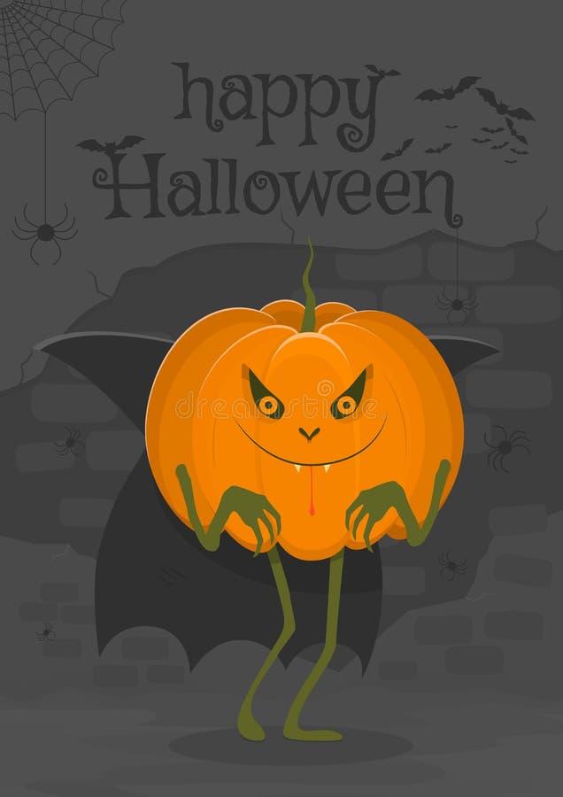 Szczęśliwy Halloween ilustracyjny ciekawy charakter w postaci wampir bani royalty ilustracja