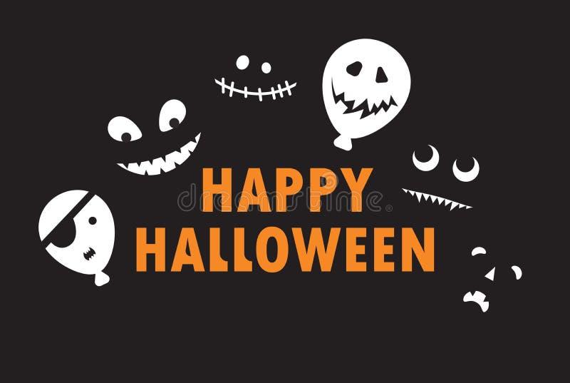 Szczęśliwy Halloween - koloru tła zaproszenie obrazy stock