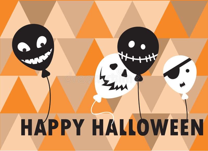 Szczęśliwy Halloween - koloru tła zaproszenie zdjęcia royalty free
