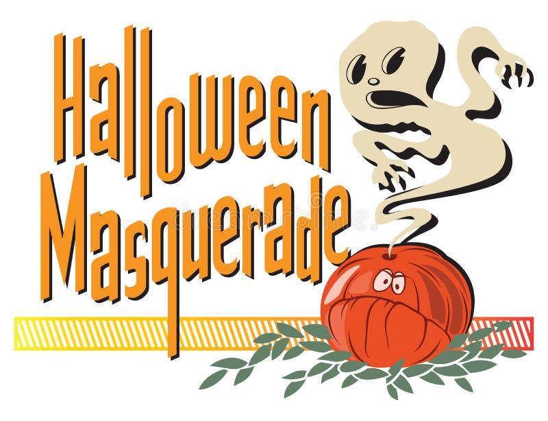szczęśliwy Halloween plakat budowy ilustraci zapas pod wektorem ilustracja wektor