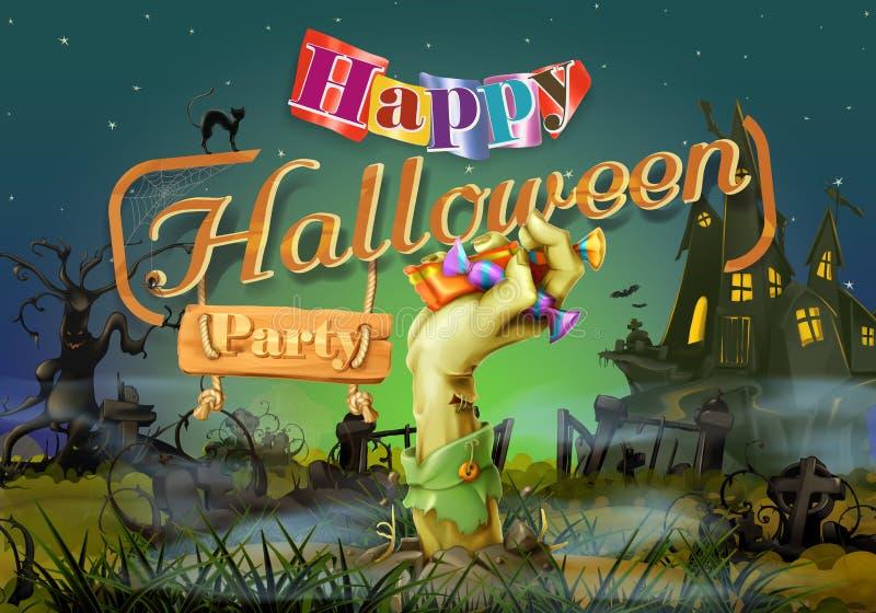 Szczęśliwy Halloween przyjęcie ilustracja wektor