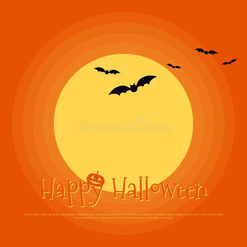 Szczęśliwy Halloween szablonu plakatowy tło ilustracja wektor