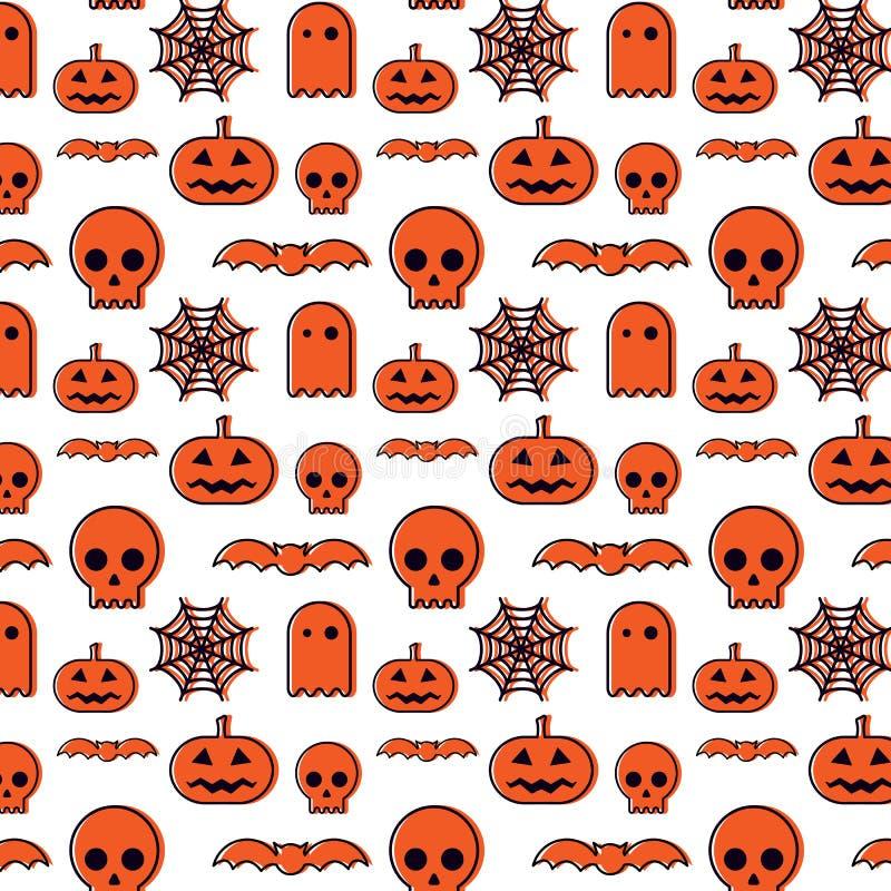 Szczęśliwy Halloween wzoru tło ilustracja wektor