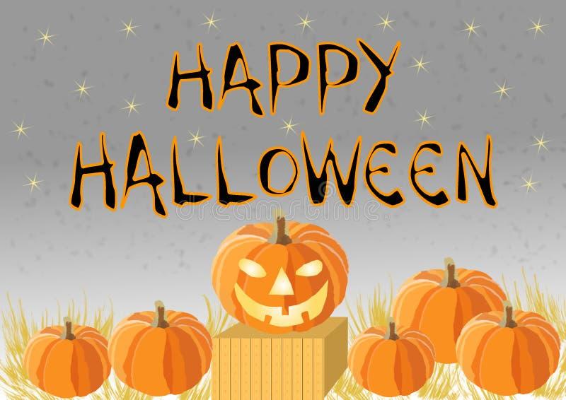 Szczęśliwy Halloween z baniami royalty ilustracja