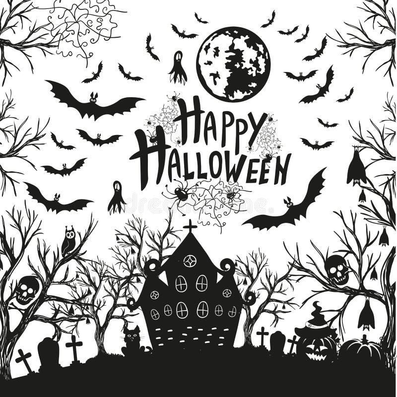Download Szczęśliwy Halloween Znak, Ikony Dla Halloween I Ilustracja Wektor - Ilustracja złożonej z abstrakt, tło: 57664002