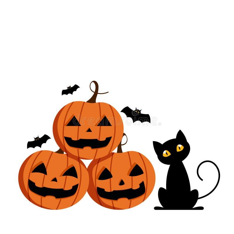 Szczęśliwy Halloweenowy dzień, Ślicznego dyniowego uśmiechu straszny ale śliczny straszny w ilustracja wektor