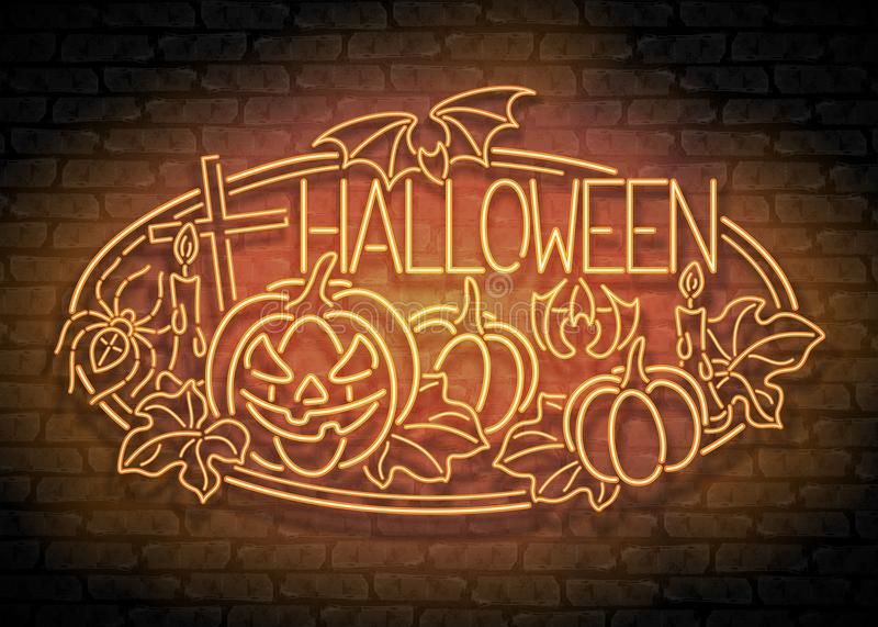 Szczęśliwy Halloweenowy kartka z pozdrowieniami szablon royalty ilustracja