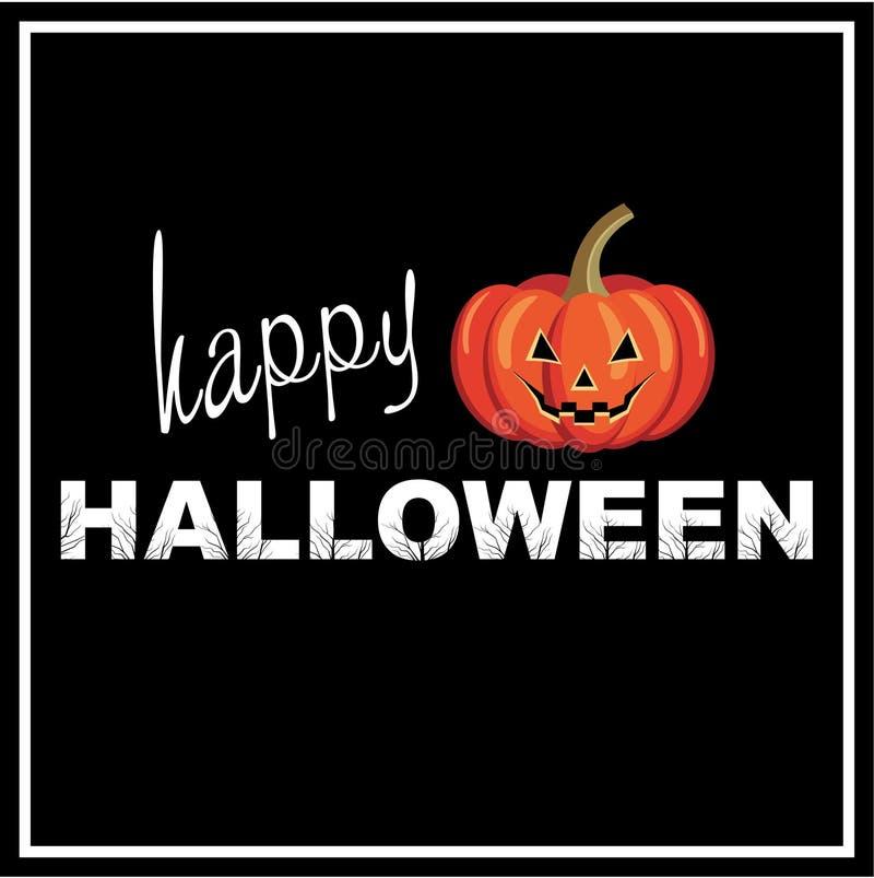Szczęśliwy Halloweenowy tło. royalty ilustracja