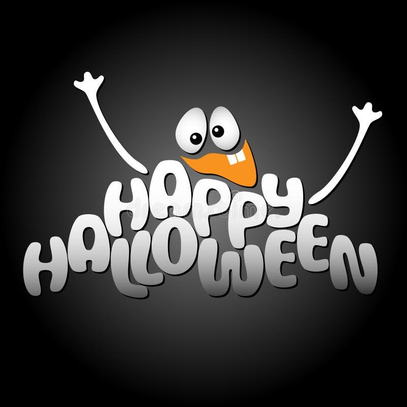 Szczęśliwy Halloweenowy wektorowy tło royalty ilustracja