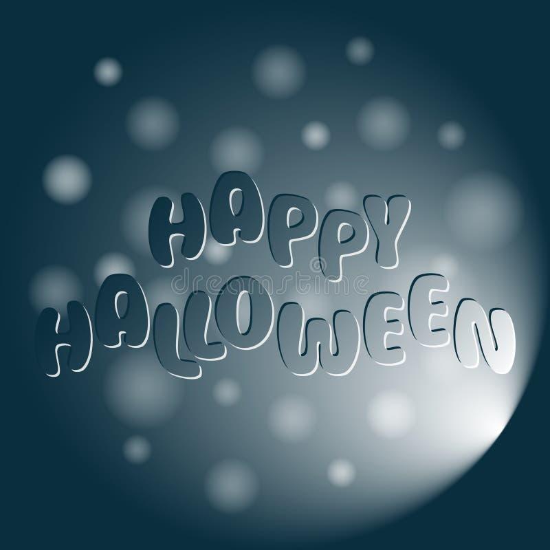 Szczęśliwy Halloweenowy wektorowy tło z literowaniem ilustracji