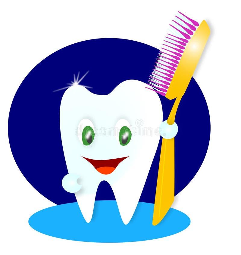 szczęśliwy ilustracyjny uśmiechnięty ząb royalty ilustracja
