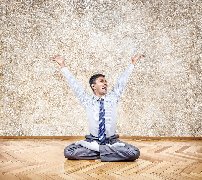 Szczęśliwy Indiański biznesmen zdjęcie stock