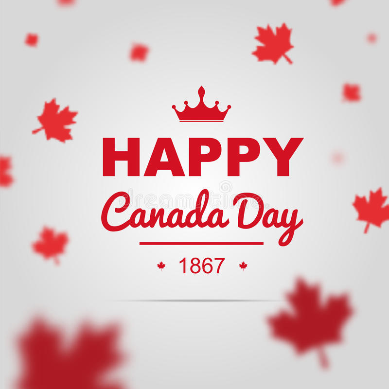 Szczęśliwy Kanada dnia plakat royalty ilustracja