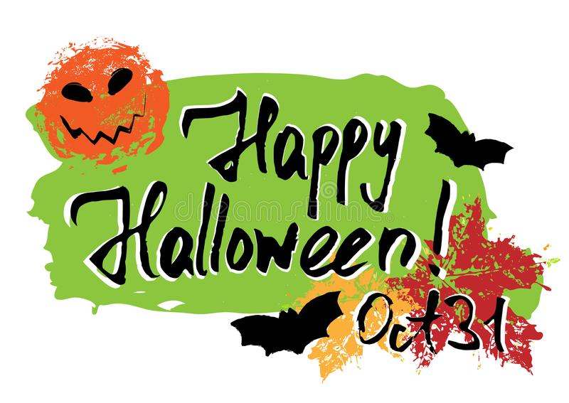 szczęśliwy karciany Halloween royalty ilustracja