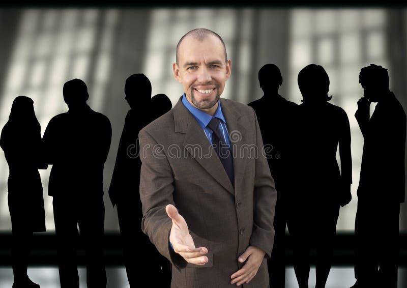szczęśliwy kierownika grupy obraz stock