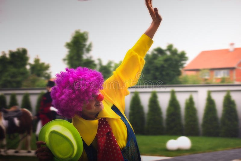 szczęśliwy klaun obraz royalty free