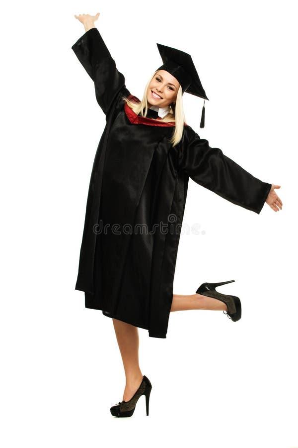 Szczęśliwy kończący studia uczeń zdjęcia stock