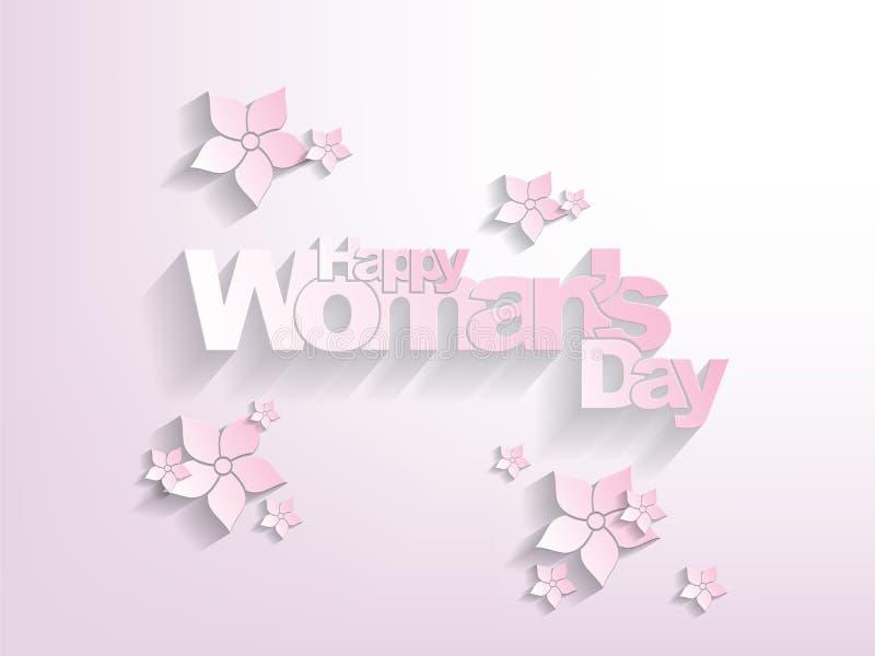 Download Szczęśliwy Kobieta Dnia Tło Ilustracji - Ilustracja złożonej z elegancki, dekoracyjny: 28973313