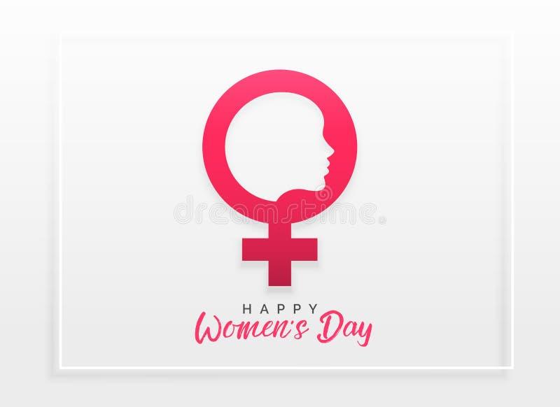 Szczęśliwy kobiety ` s dnia świętowania pojęcia projekta tło ilustracja wektor