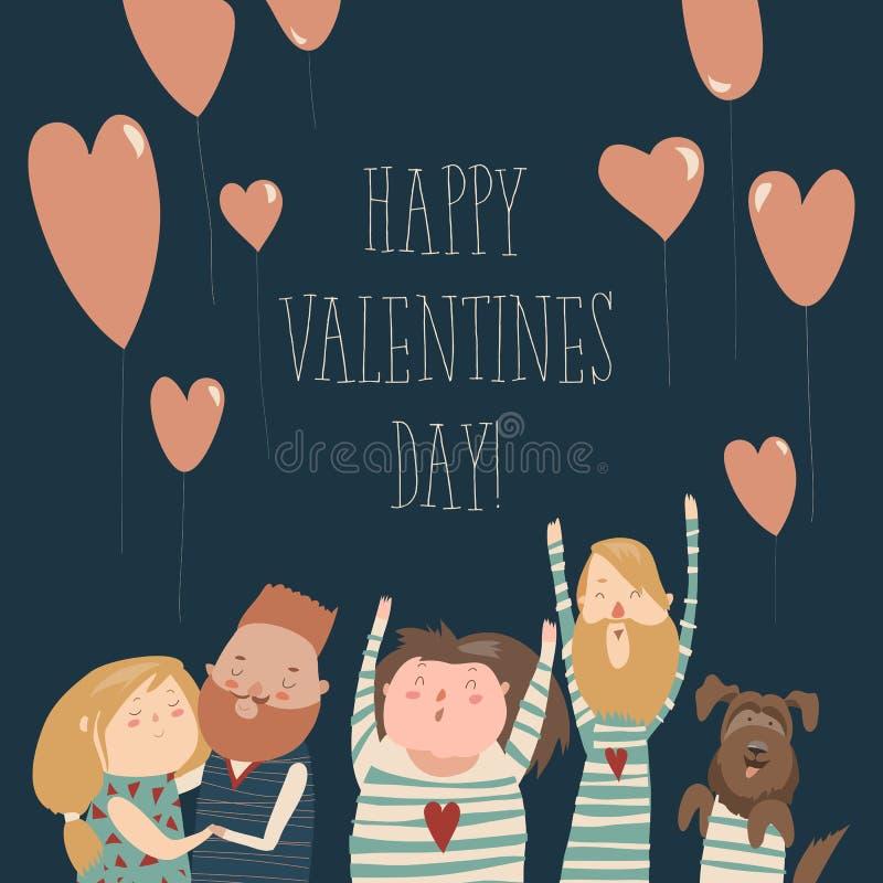 szczęśliwy kochać pary ilustracja wektor