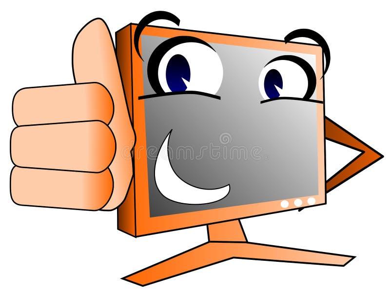 Szczęśliwy komputer ilustracja wektor