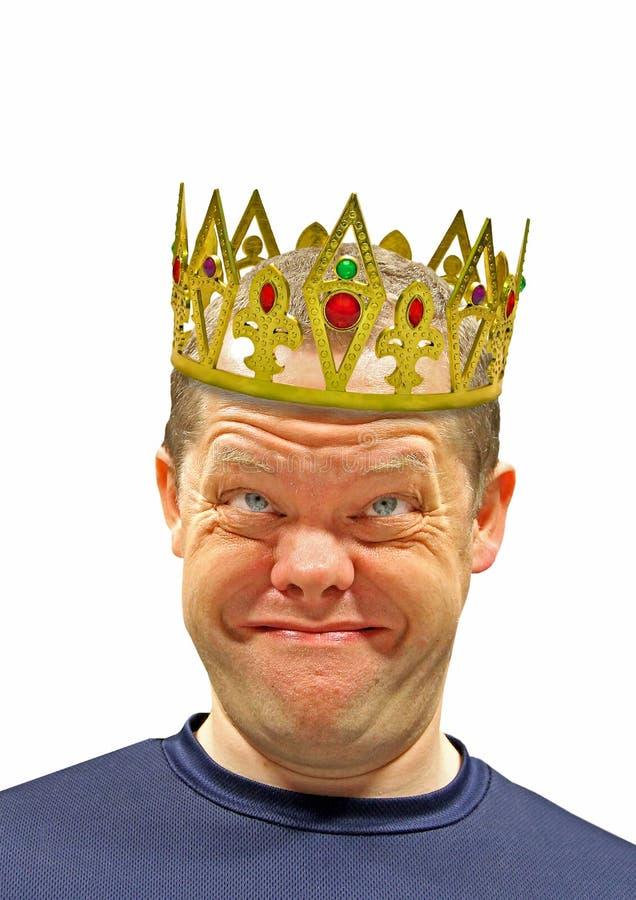 Szczęśliwy korony królewiątka mężczyzna zdjęcie stock