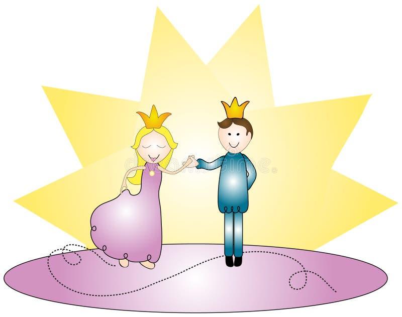 szczęśliwy królewski pary ilustracja wektor